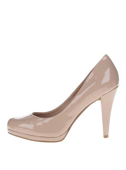 Pantofi bej lăcuiți cu platformă  Dorothy Perkins