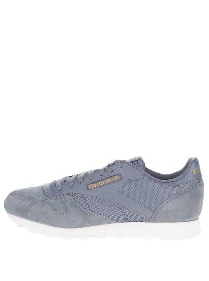 Pantofi sport gri din piele Reebok