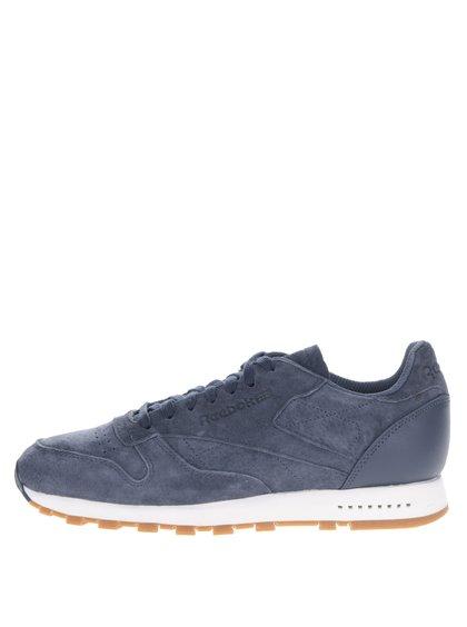 Pantofi sport albaștri din piele întoarsă Reebok