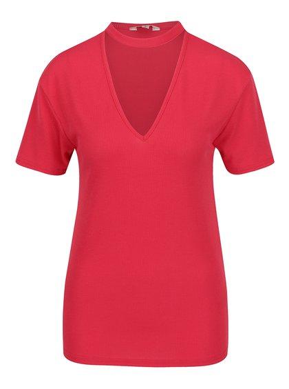 Tricou roșu  Miss Selfridge cu decupaj