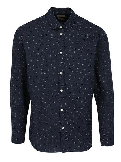Modrá vzorovaná košile Selected One Josh