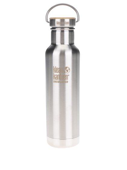 Nerezová lahev ve stříbrné barvě Klean Kanteen Insulated Reflect 592 ml