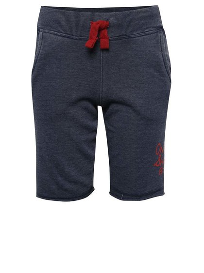 Pantaloni scurți albastru închis Blue Seven cu print