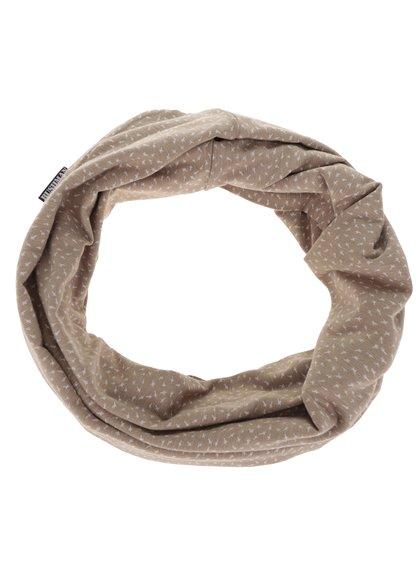 Béžový dámský kruhový šátek s potiskem BUSHMAN Galie