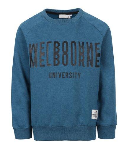 Bluza name it turquoise cu print