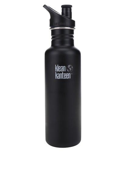 Sticlă de apă negru & verde Klean Kanteen Classic 800 ml