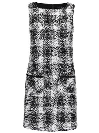 Bílo-černé vzorované šaty s kapsami Dorothy Perkins
