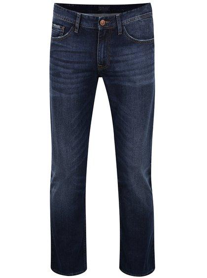 Blugi albaștri cu aspect uzat Cross Jeans Antonio