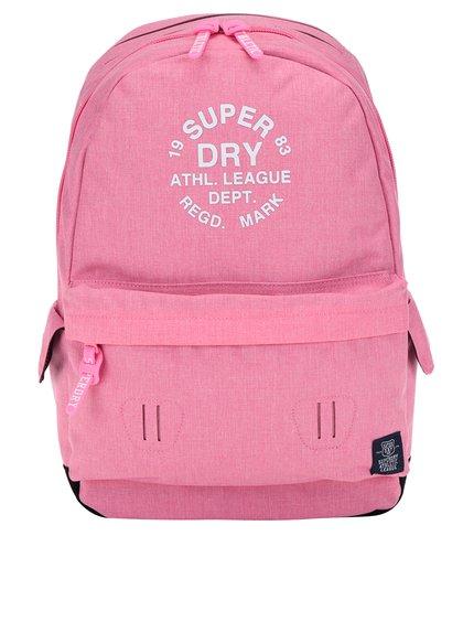 Růžový žíhaný batoh s potiskem Superdry League Montana