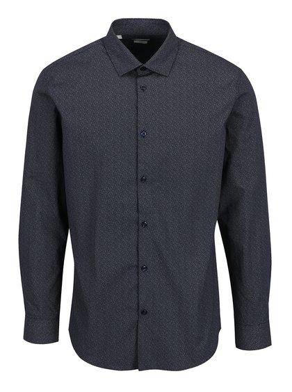 Tmavě modrá vzorovaná košile Selected Homme One New