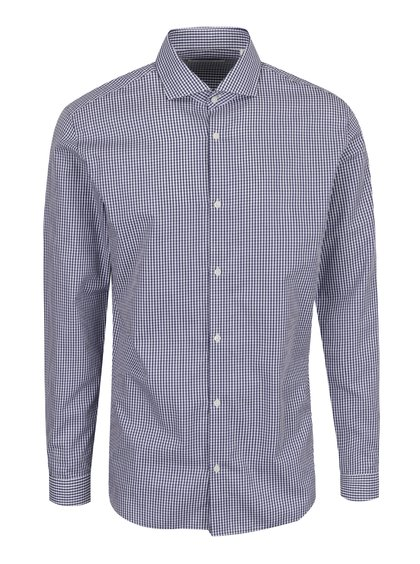Tmavě modrá kostkovaná slim fit košile Jack & Jones Premium Costa Rica