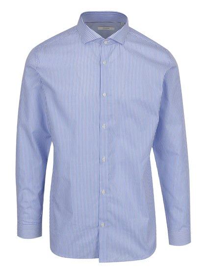 Modrá pruhovaná slim fit košile Jack & Jones Premium Costa Rica