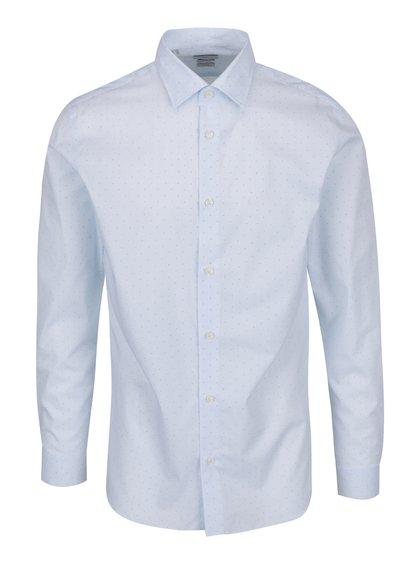 Světle modrá vzorovaná slim fit košile Selected Homme Done Pen