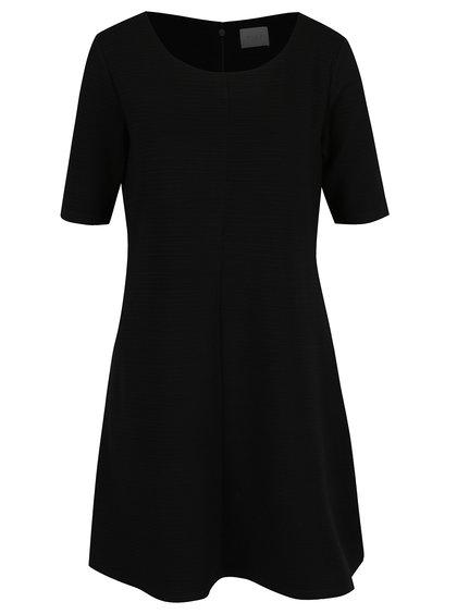Černé žebrované šaty VILA Caro