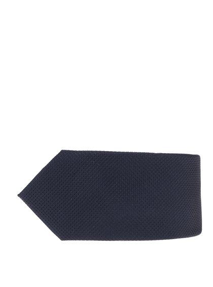 Cravată bleumarin din mătase cu model discret Jack & Jones Premium Colombia