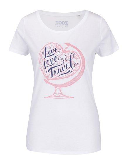 Bílé dámské tričko ZOOT Originál Live Love Travel