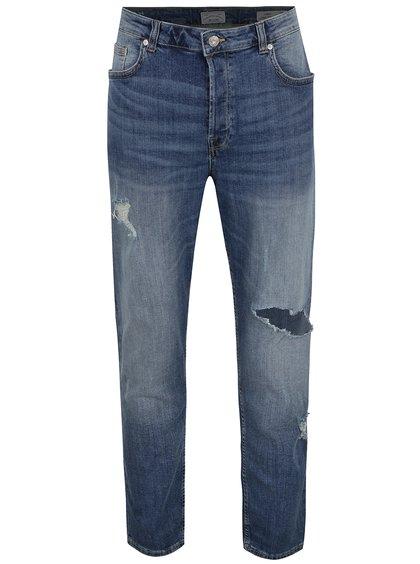 Modré džíny s potrhaným efektem ONLY & SONS Aged