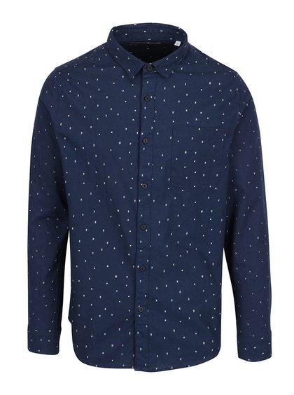 Tmavě modrá vzorovaná slim fit košile ONLY & SONS Tom