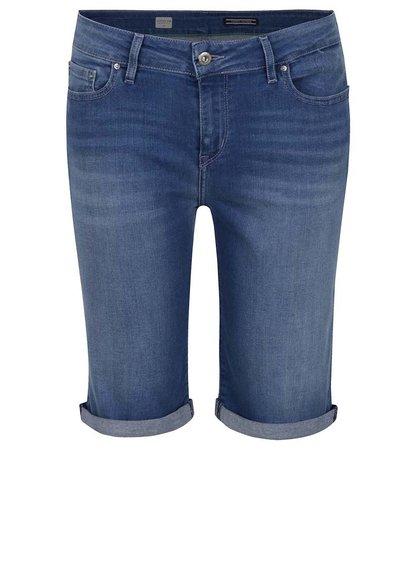 Modré dámské skinny fit džínové kraťasy Tommy Hilfiger