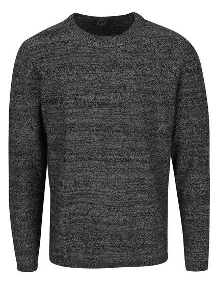 Tmavě šedý žíhaný svetr Jack & Jones Blend