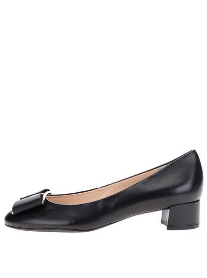 Pantofi negri din piele Högl cu fundă