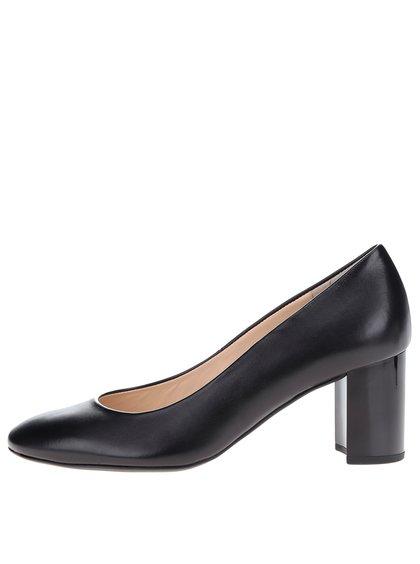 Pantofi negri din piele Högl toc masiv
