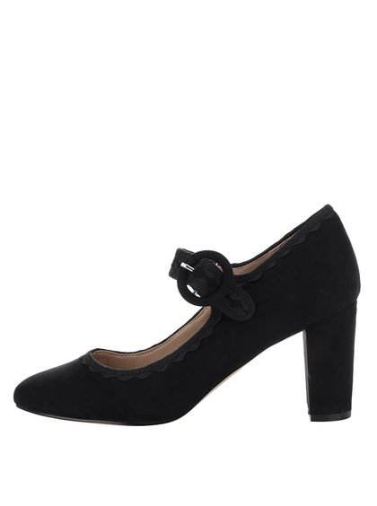Pantofi negri cu toc gros și baretă - Dorothy Perkins