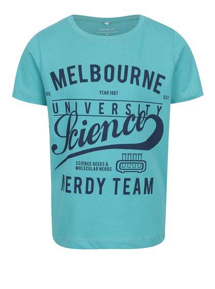Tyrkysové klučičí triko s potiskem Name it Victorian