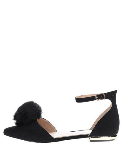 Černé sandálky v semišové úpravě Miss KG Goldie