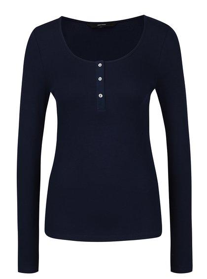 Bluză bleumarin cu nasturi VERO MODA Gaby