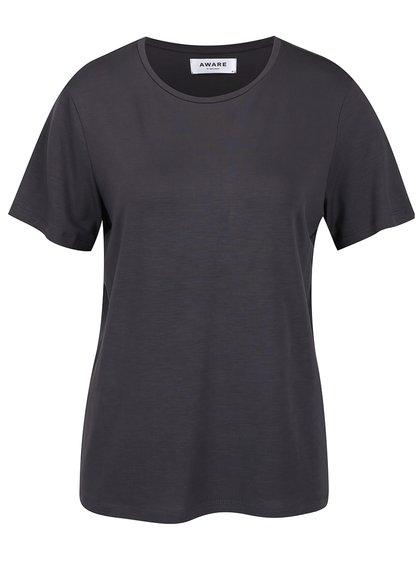 Tmavě šedé basic tričko VERO MODA Ava