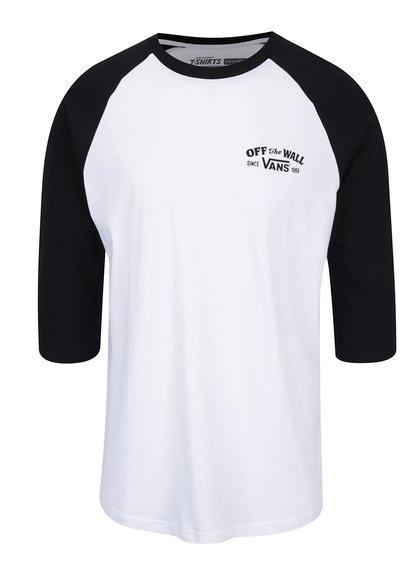 Černo-bílé pánské triko s potiskem Vans