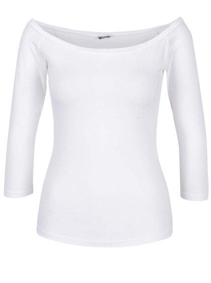 Bílé tričko s lodičkovým výstřihem ZOOT