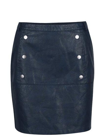 Tmavě modrá koženková sukně VERO MODA Cameo