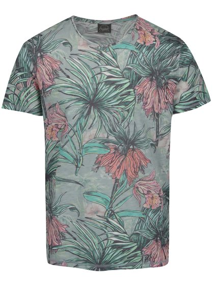 Zelené vzorované triko Jack & Jones Sebnem