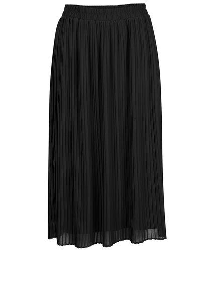 Černá plisovaná midi sukně VERO MODA Pleta
