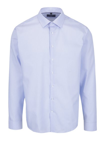 Světle modrá pruhovaná tailored fit košile Seidensticker