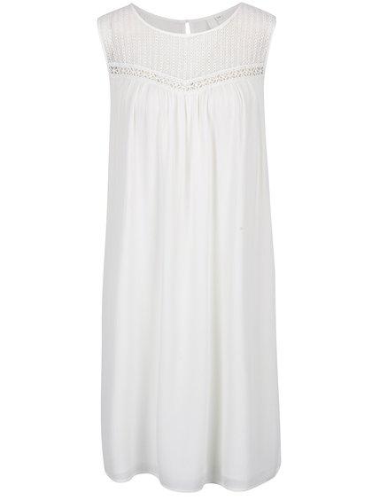 Krémové šaty s krajkou s.Oliver