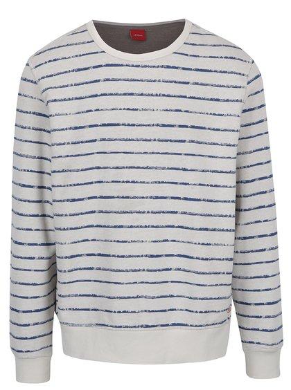 Bluză în dungi crem cu albastru  s.Oliver
