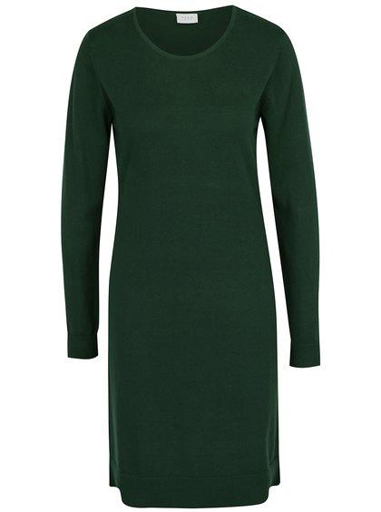Tmavě zelené svetrové šaty VILA Bekka