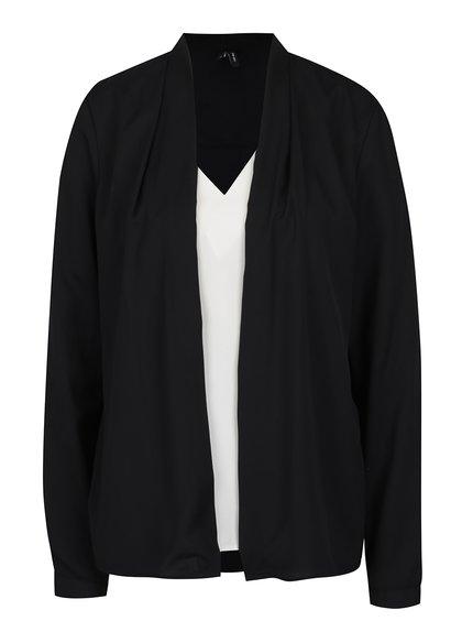 Bluză - cardigan neagru & crem - VERO MODA Emma