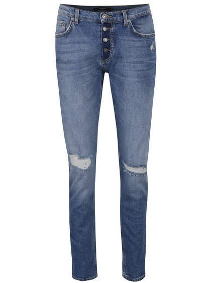 Modré džíny s potrhaným efektem VERO MODA Ashley