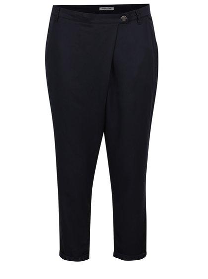 Tmavě modré dámské zkrácené kalhoty s vysokým pasem Garcia Jeans