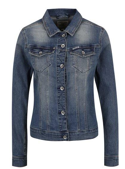 Jachetă albastră de damă din denim Garcia Jeans Sofia