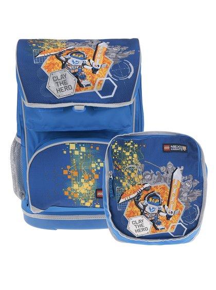 Ghiozdan albastru cu rucsac 2 în 1 cu print LEGO Wear Nexo Knights 28 l