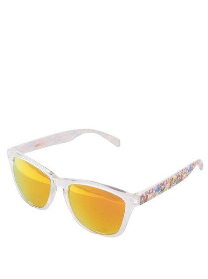 Transparentní unisex sluneční brýle Emoji Total Custom