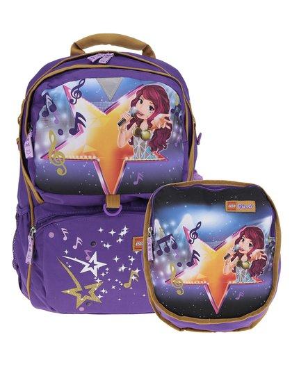 Fialový holčičí batoh s malým batohem 2v1 LEGO Wear Friends PopStar Freshmen 33 l