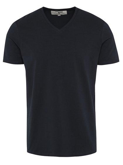 Tmavě modré pánské basic triko s véčkovým výstřihem Garcia Jeans Remco