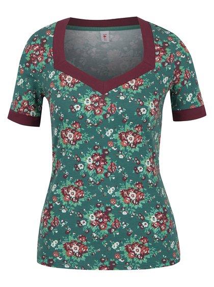 Zelené květované tričko Blutsgeschwister