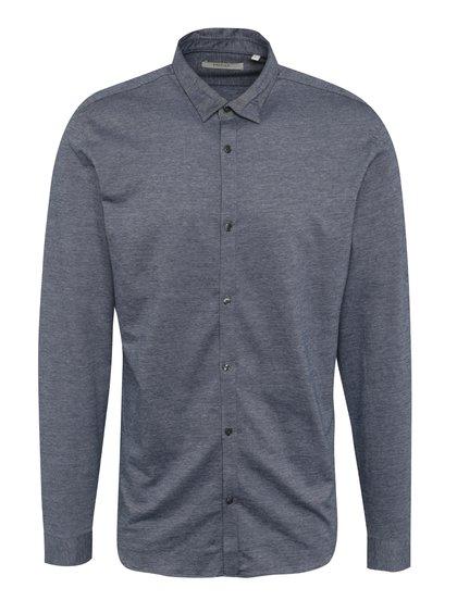 Modrá žíhaná slim fit košile Jack & Jones Premium Knit